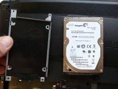Замена жесткого диска в ноутбуке