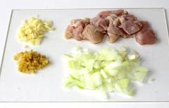 Рецепт курицы с рисом и специями (карри, имбирь, куркума)