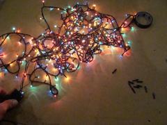Ремонт новогодней (елочной) гирлянды