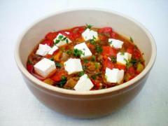Рецепт овощного рагу с брынзой