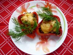 Рецепт фаршированных перцев (мясом и фаршем)