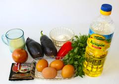 Рецепт омлета с баклажанами