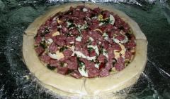 Рецепт пиццы с колбасой (Калабрийская пицца)