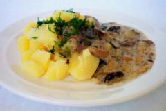 Рецепт картошки с грибами