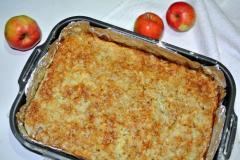 Рецепт пирога с яблоками на сухой основе