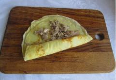 Рецепт блинов с мясом кролика