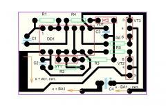 Сирена на микросхеме К561ЛН2