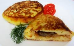 Рецепт зраз с капустой и грибами