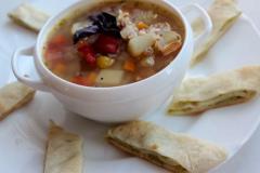 Рецепт гречневого супа с закусочным рулетом