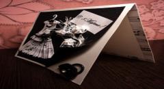 Объемная открытка  -            классические цвета