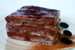 Рецепт шоколадного торта с изюмом
