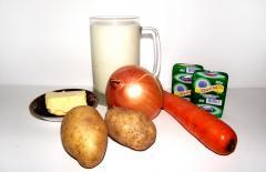Рецепт сырного супа с молоком