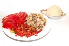 Рецепт пиццы с курицей и помидорами (Вирджиния)
