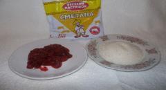 Малиновый скраб для тела: сахар + малина + сметана