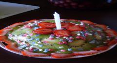Торт на первый День Рождения - рецепт с фото