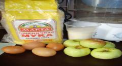 Бисквит с яблоками - рецепт