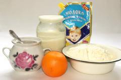 Творожной десерт (сгущенка, апельсин)