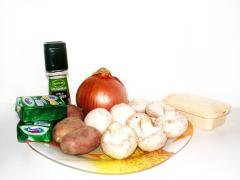 Рецепт сырного супа (грибного)