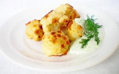 Рецепт цветной капусты со сметанным соусом