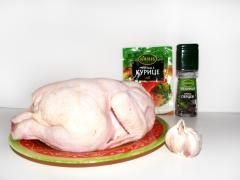 Курица в аэрогриле (жареная с зеленью)