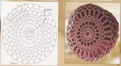 Вязание крючком вазы - схема и фото