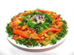 Овощное рагу с подосиновиками
