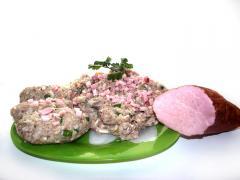 Котлеты со свиной лангеткой и сыром