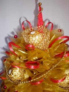 Новогодняя елка из конфет, красиво и просто