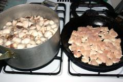 Курица с тыквой и грибами, как вкусно приготовить