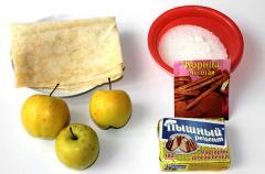 Рецепт штруделя с яблоками на скорую руку