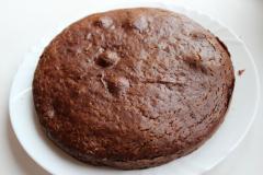 Постный торт шоколадно-абрикосовый
