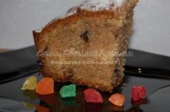 Рецепт кекса с изюмом и шоколадом