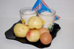 Оладьи с кисло-сладкими яблоками