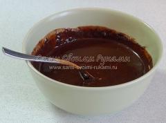 Рецепт шоколадных брауни с мятой