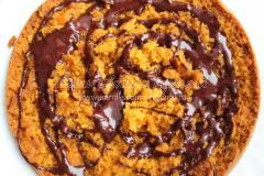 Тыквенный пирог с шоколадной прослойкой и глазурью
