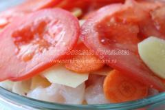Рецепт пангасиуса с овощами в собственном соку