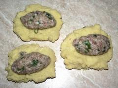 Картофельные котлеты с мясным фаршем