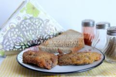 Печень в кляре (в яйце и сухарях)