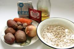 Рецепт фасолевого супа с грецкими орехами