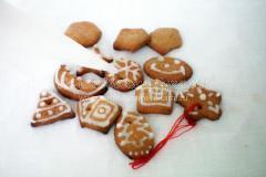 Имбирные пряники на елку с росписью и печенье