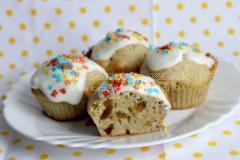 Кексы с изюмом на молоке, рецепт с фото