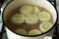 Рецепт простого супа с хинкали и овощами