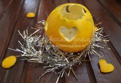Ароматный подсвечник из апельсина