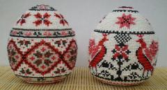 Яйца пасхальные из бисера