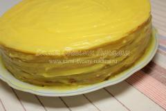 Торт из коржей с заварным кремом, рецепт