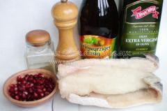 Рыба под гранатовым соусом, вкусный и простой рецепт
