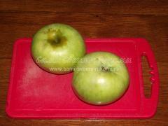 Хрустящая курица запеченная с яблоками и лимоном, пошаговый рецепт с фото