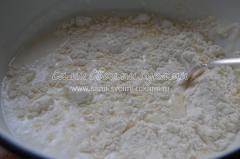Рецепт курника на кефире с грибами