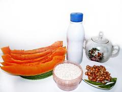 Каша с тыквой и рисом на молоке
