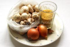 Вкусная пшенная каша с грибами, рецепт с фото